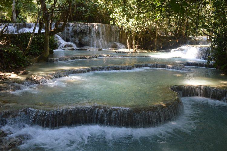 reisverslag laos - kuang si waterval