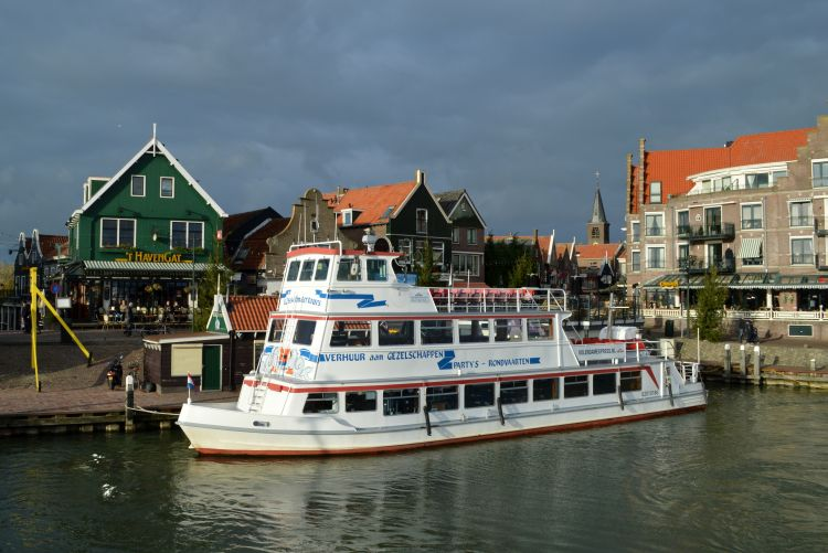 witte reisfoto's Volendam