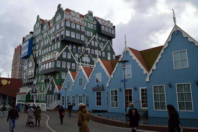 zaanse huisjes hotel - gevel voorkant