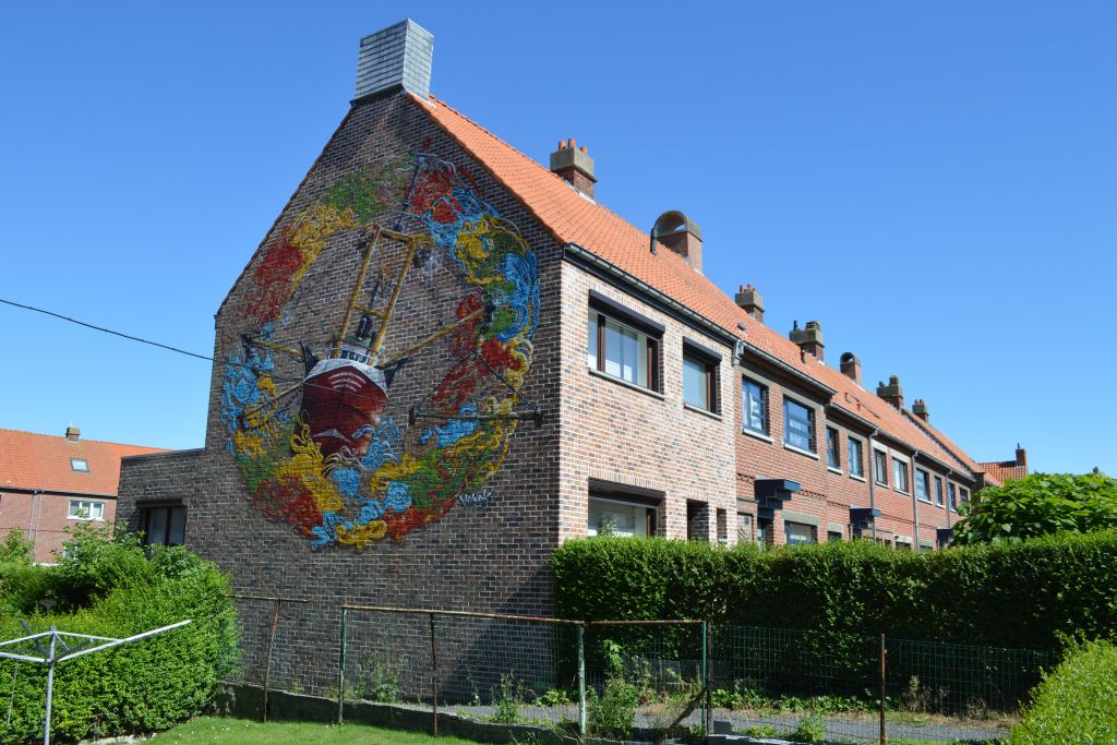 muurschilderingen oostende route Crystal Ship