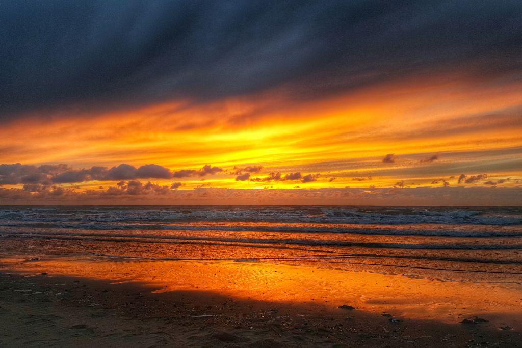 weekendje belgische kust - zonsondergang