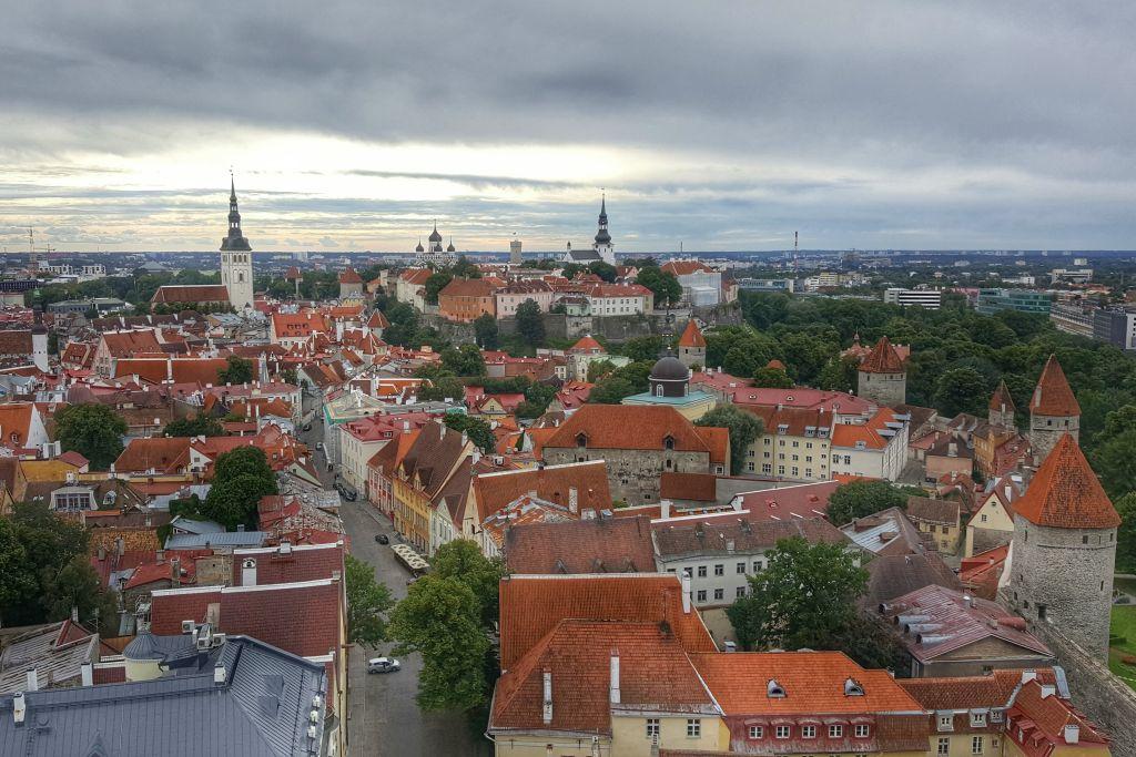 verslag stedentrip Tallinn - uitzicht sint olaf kerk