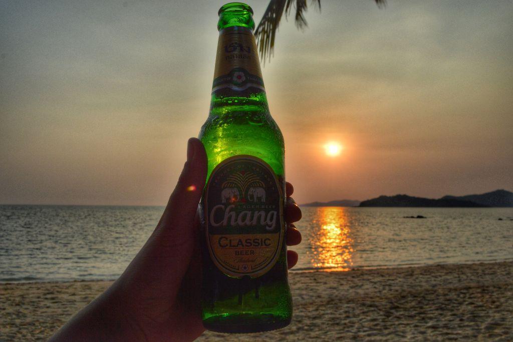 fietsen op koh mak thailand - zonsondergang