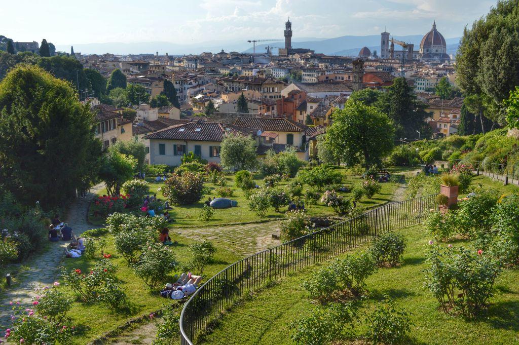 wat te doen in Florence - rozentuin