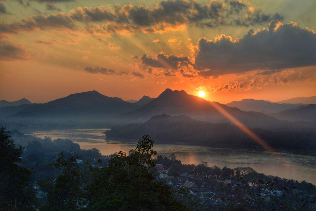 mooiste zonsondergangen - Laos - Luang Prabang