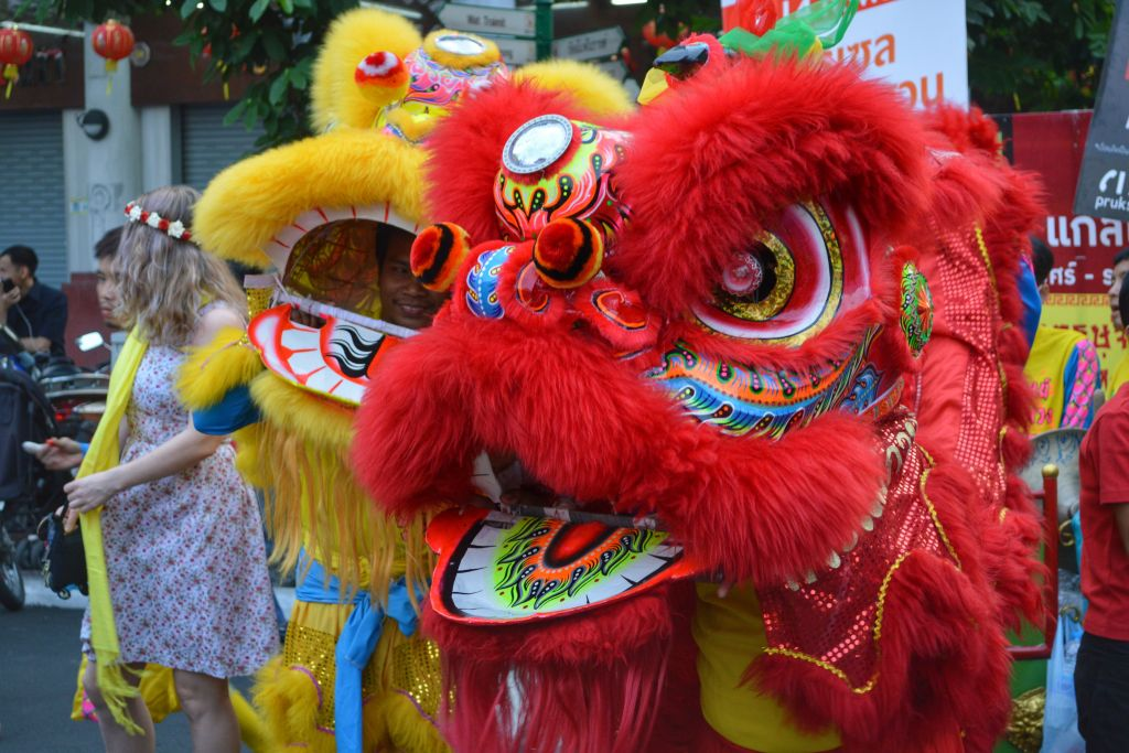 chinees nieuwjaar bangkok - draken