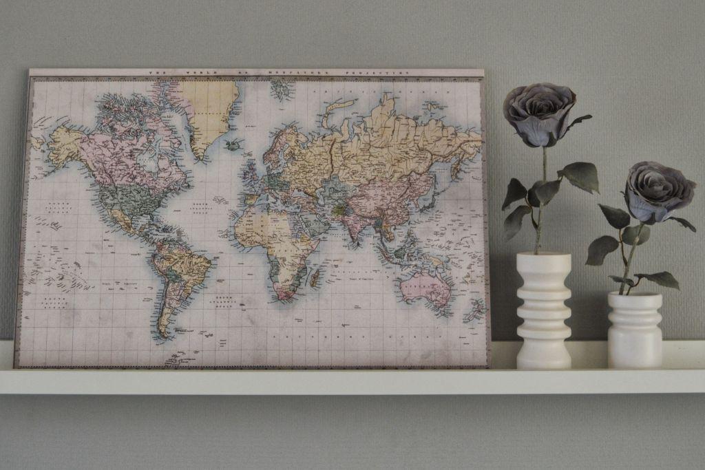 Woonkamer Met Wereldkaart : Winactie win een wereldkaart van wereldkaarten
