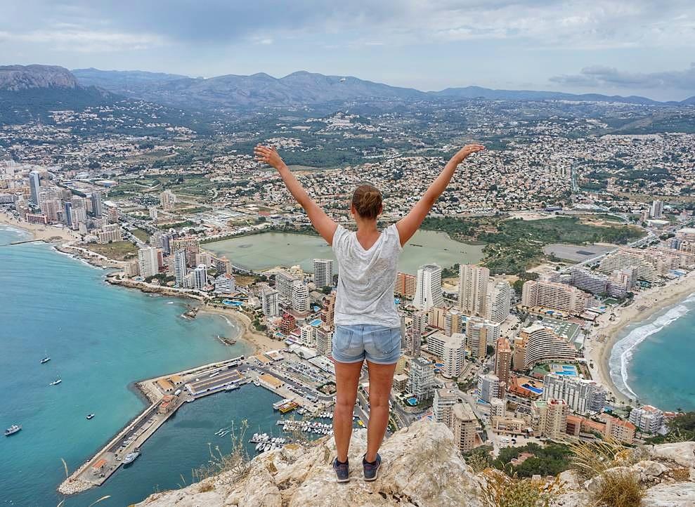 Uitzicht Calpe Spanje