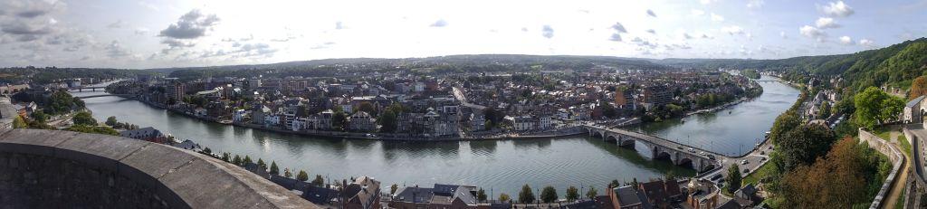 panorama uitzicht citadel namen