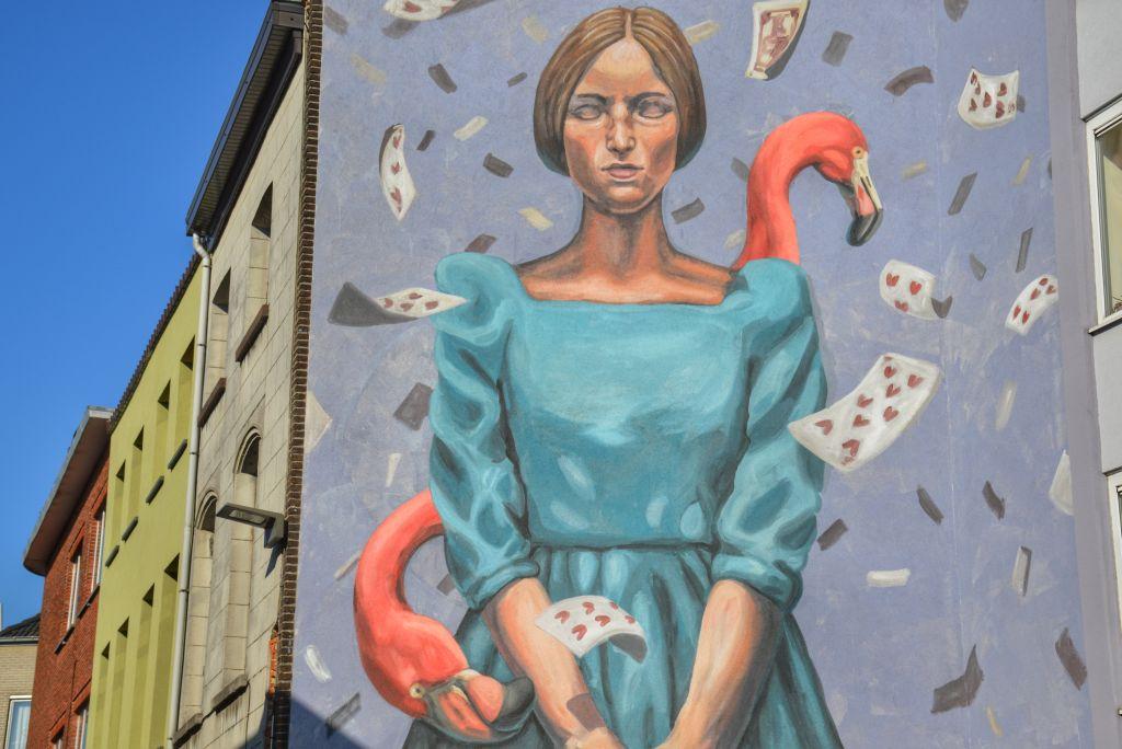 muurschildering mechelen de langhestraat