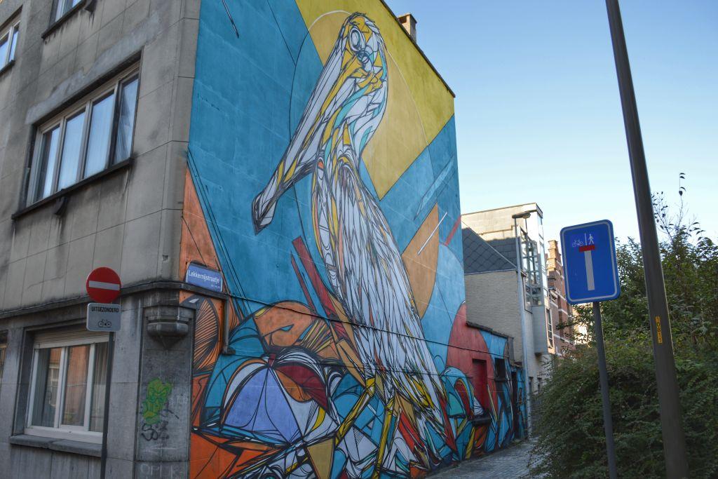 mechelen muurschildering pelikaan