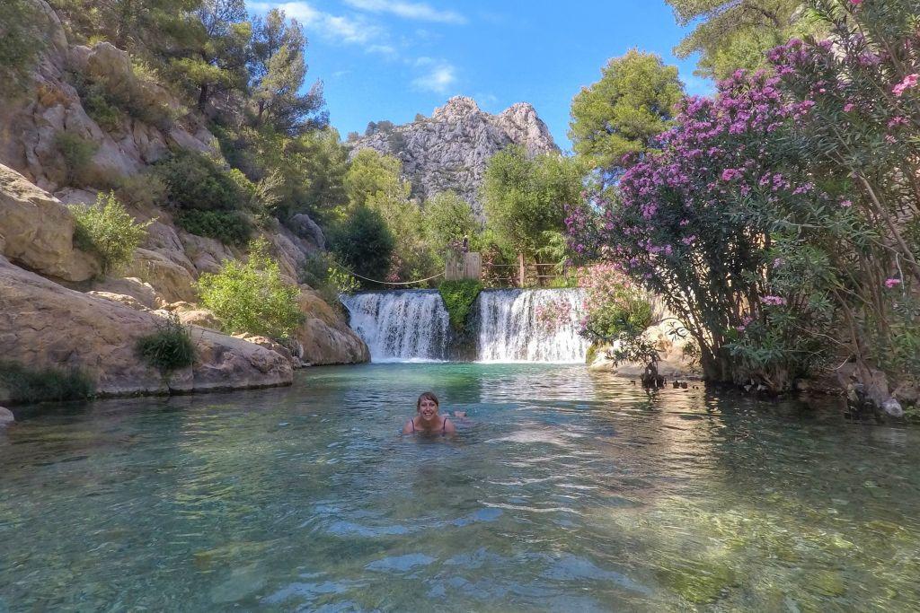 mooiste plekjes Costa Blanca - Algar watervallen