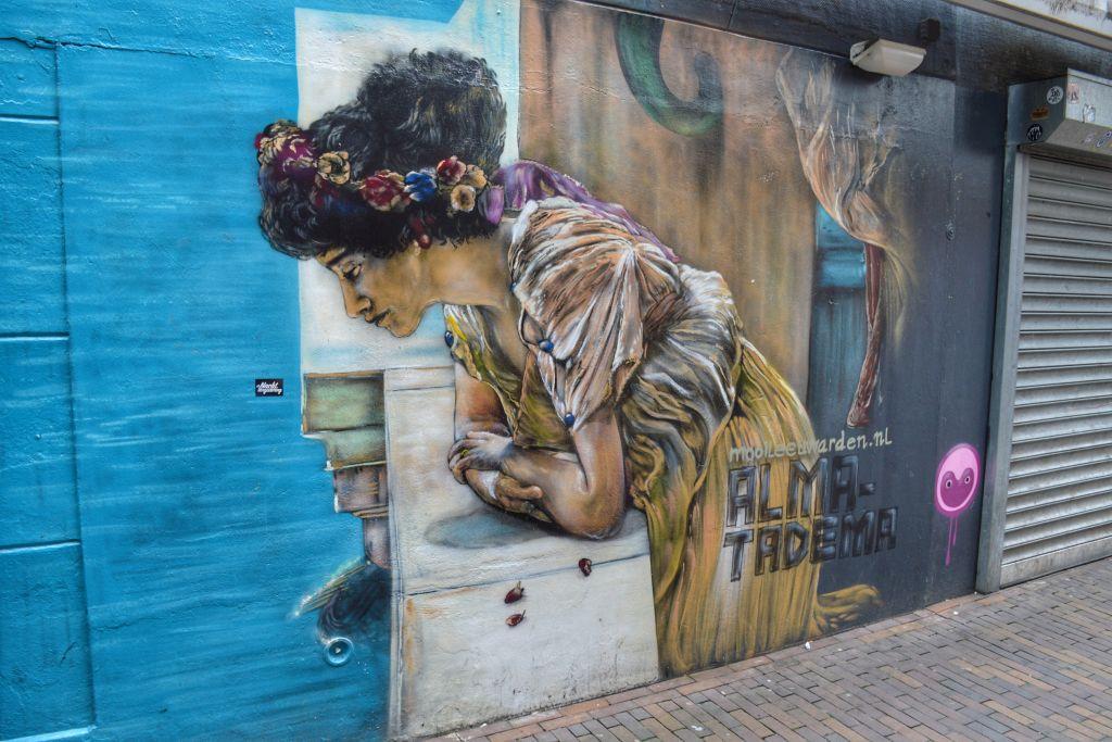 streetart Leeuwarden - muurschildering Alma Tadema