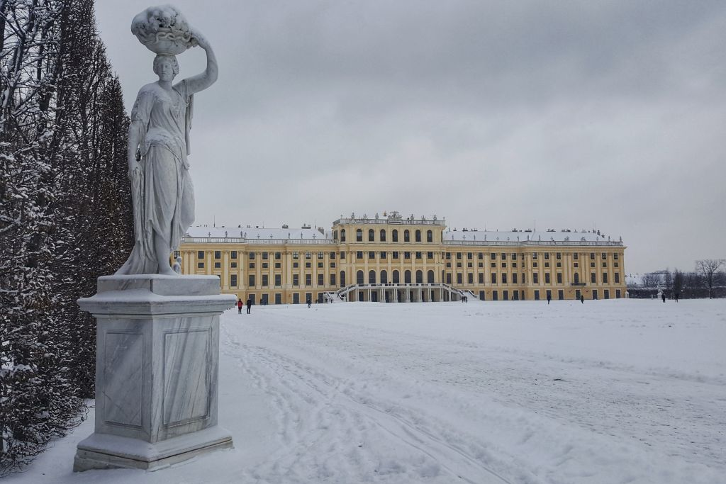 slot schonbrunn - Wenen in de sneeuw