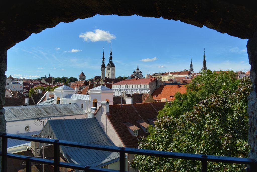 Uitzicht stadsmuur Tallinn
