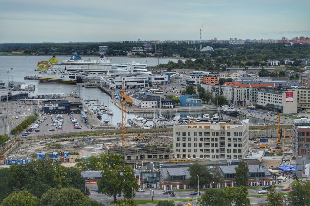Uitzicht Tallinn haven