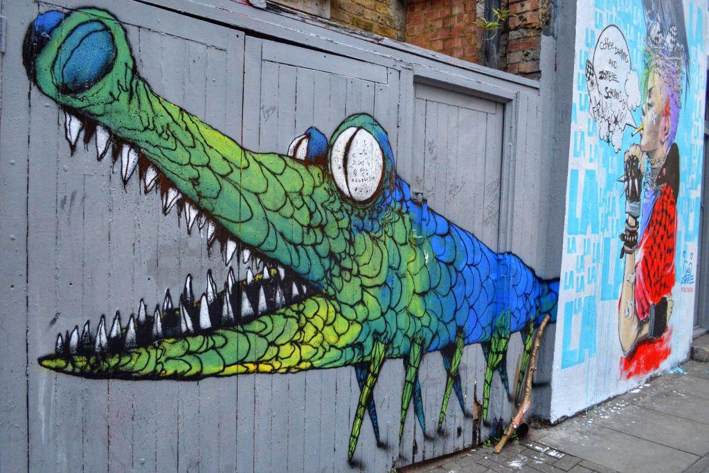Streetart Shoreditch Londen