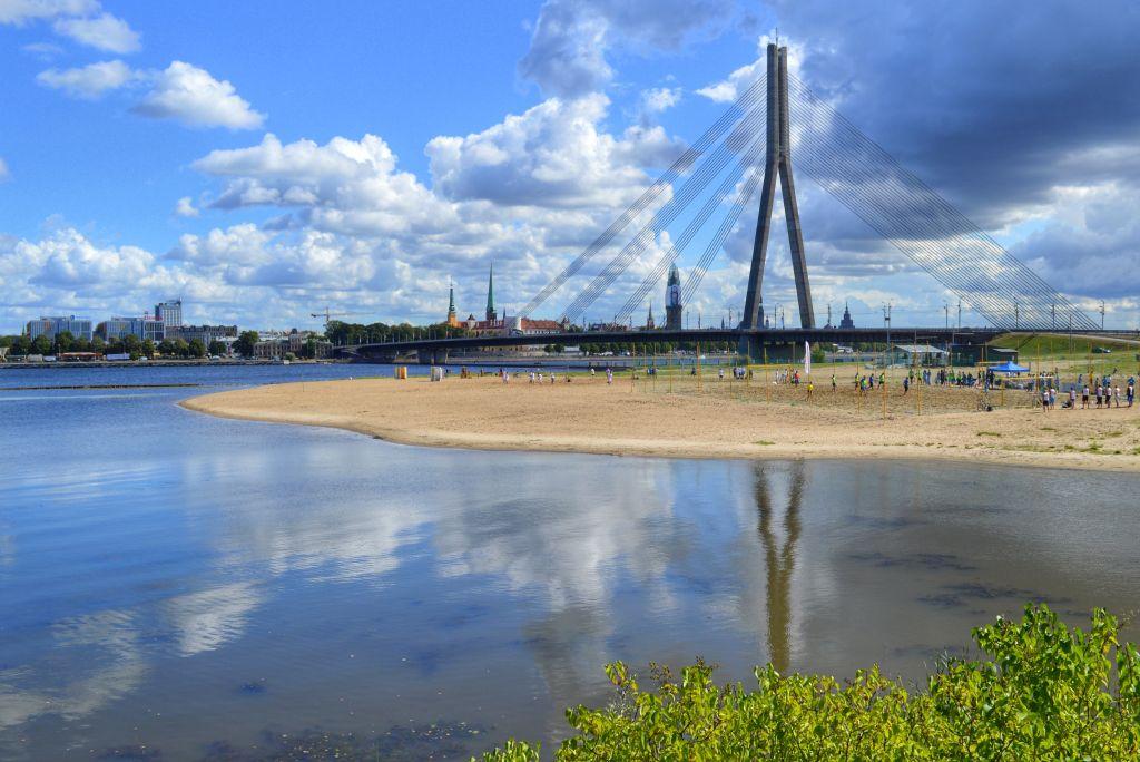 Uitzicht Kipsala Riga