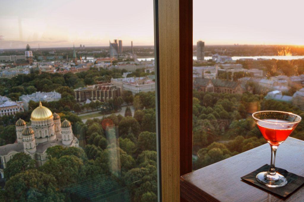 Uitzicht Skyline bar Riga