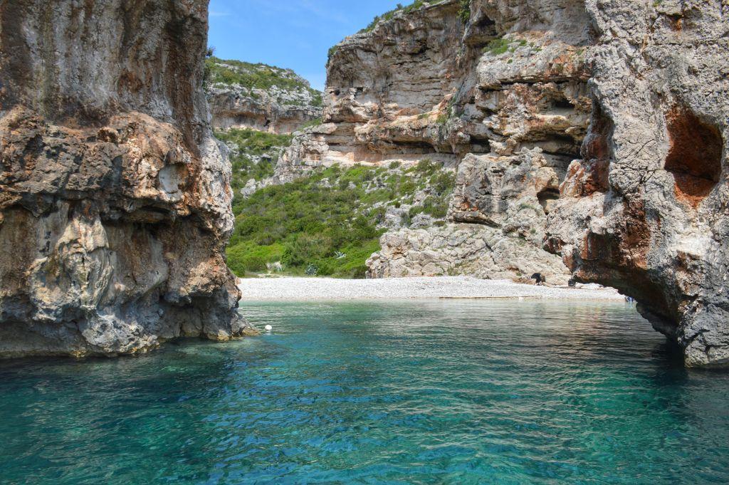 Stiniva beach Vis Kroatie