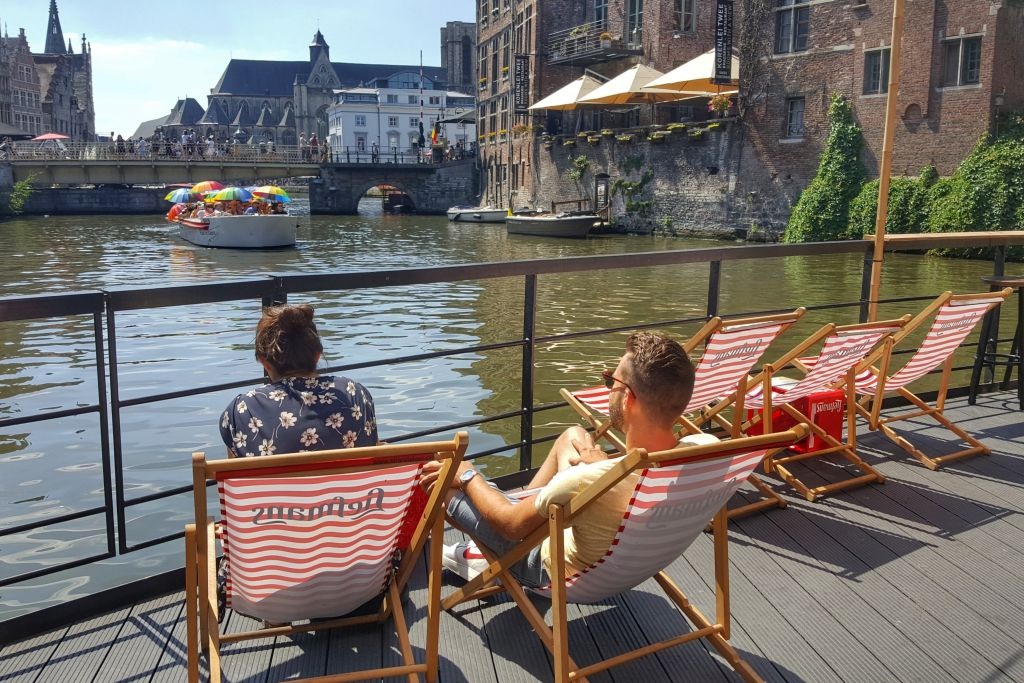 Zomerse Pop-up bar Liefmans Gent