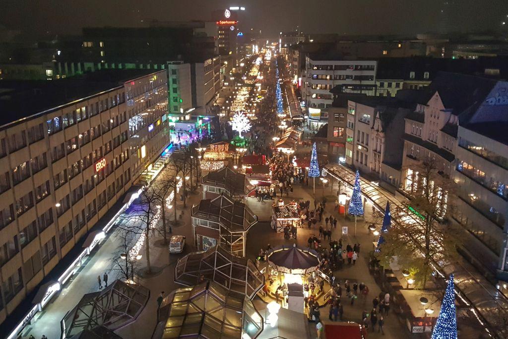 Uitzicht reuzenrad Duisburg