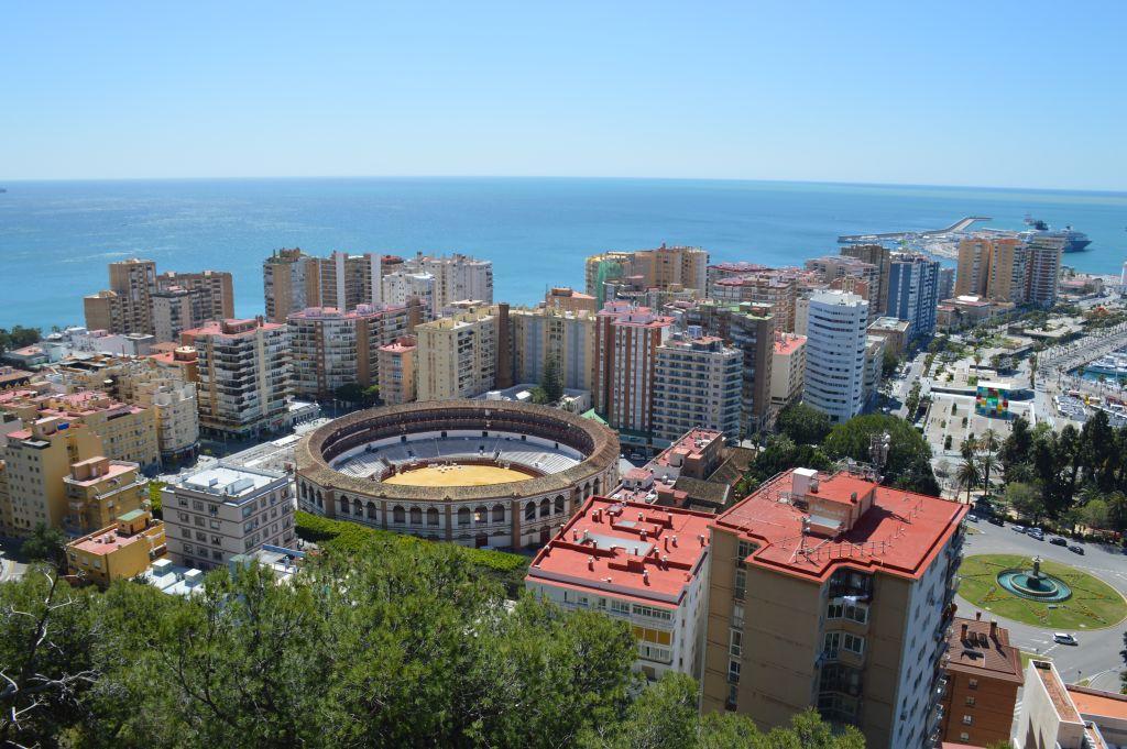 Uitzicht stierenarena Malaga
