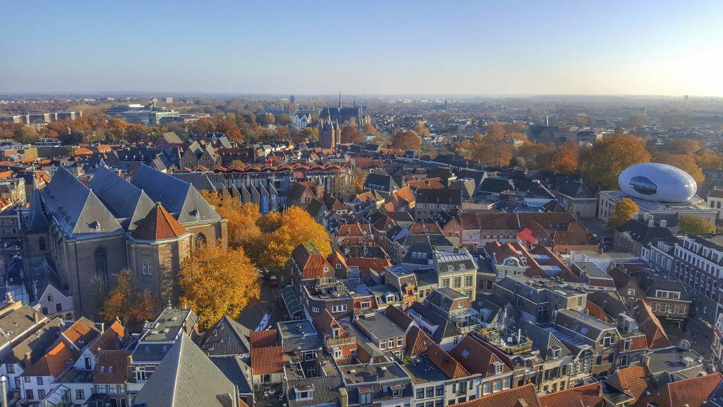 Uitzicht Zwolle vanaf de Peperbus