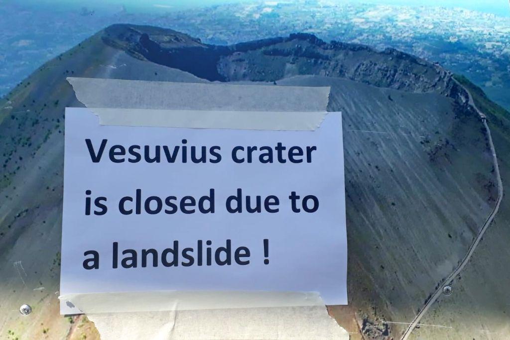 Vesusvius dicht vanwege aardverschuiving