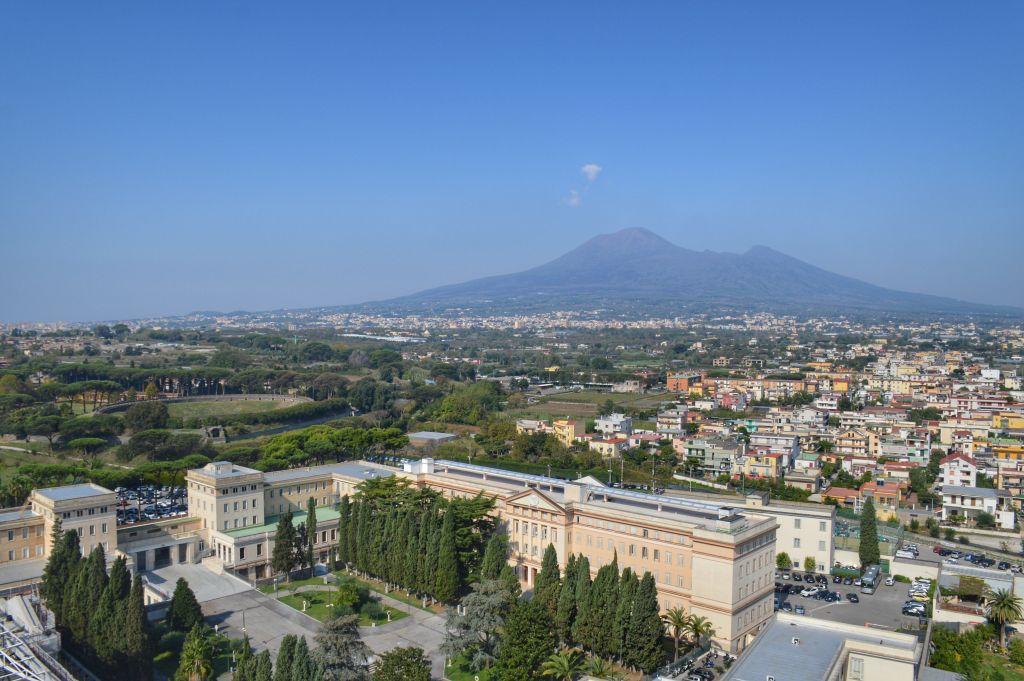 Uitzicht Pompeï en Vesuvius