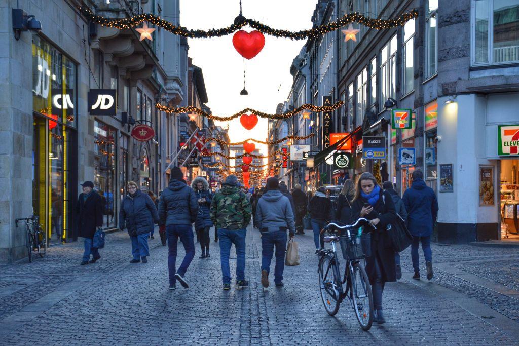 Winkelstraat Stroget Kopenhagen