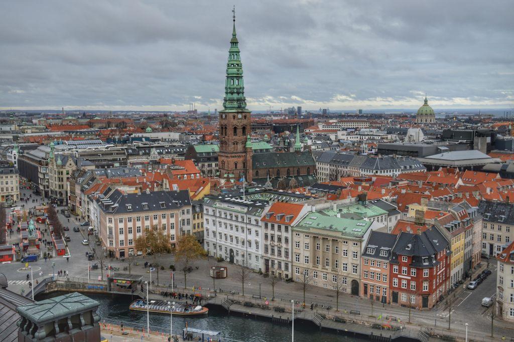 Uitzicht vanaf de Christiansborg toren