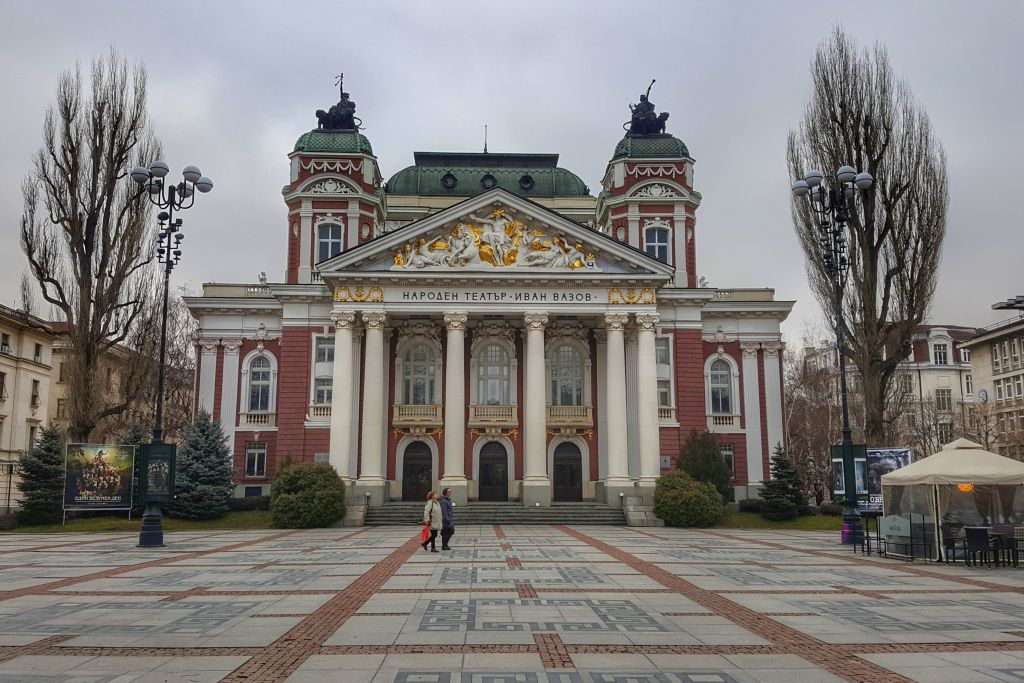 Ivan Vazov nationaal theater in Sofia