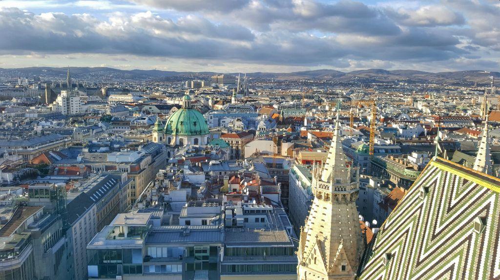 Uitzicht vanaf Steffi in Wenen