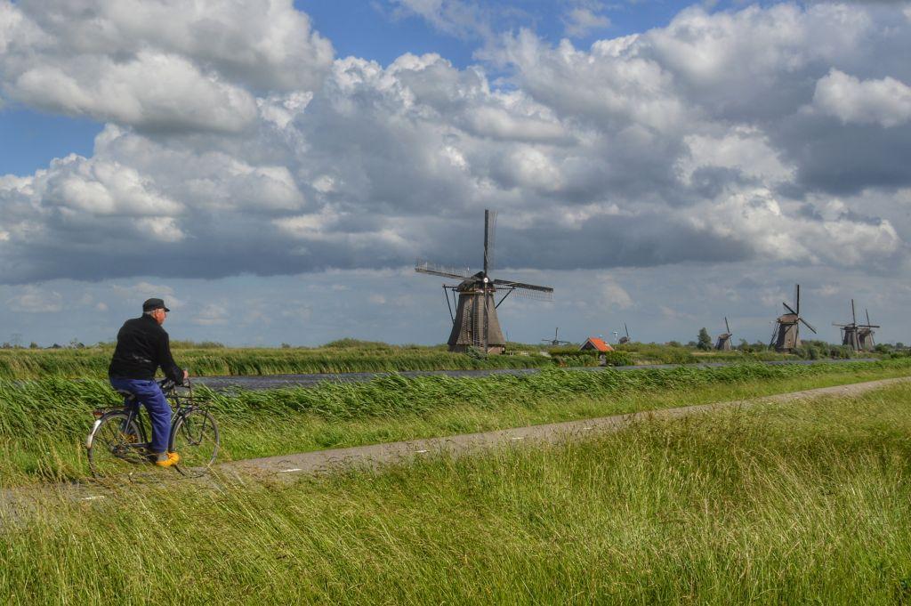 oer-Hollands landschap Kinderdijk