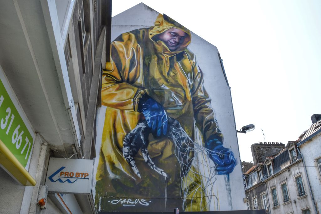 Muurschildering Boulogne