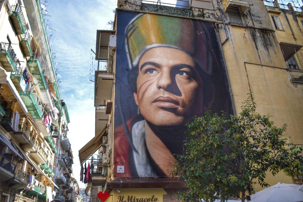 Muurschildering San Gennaro