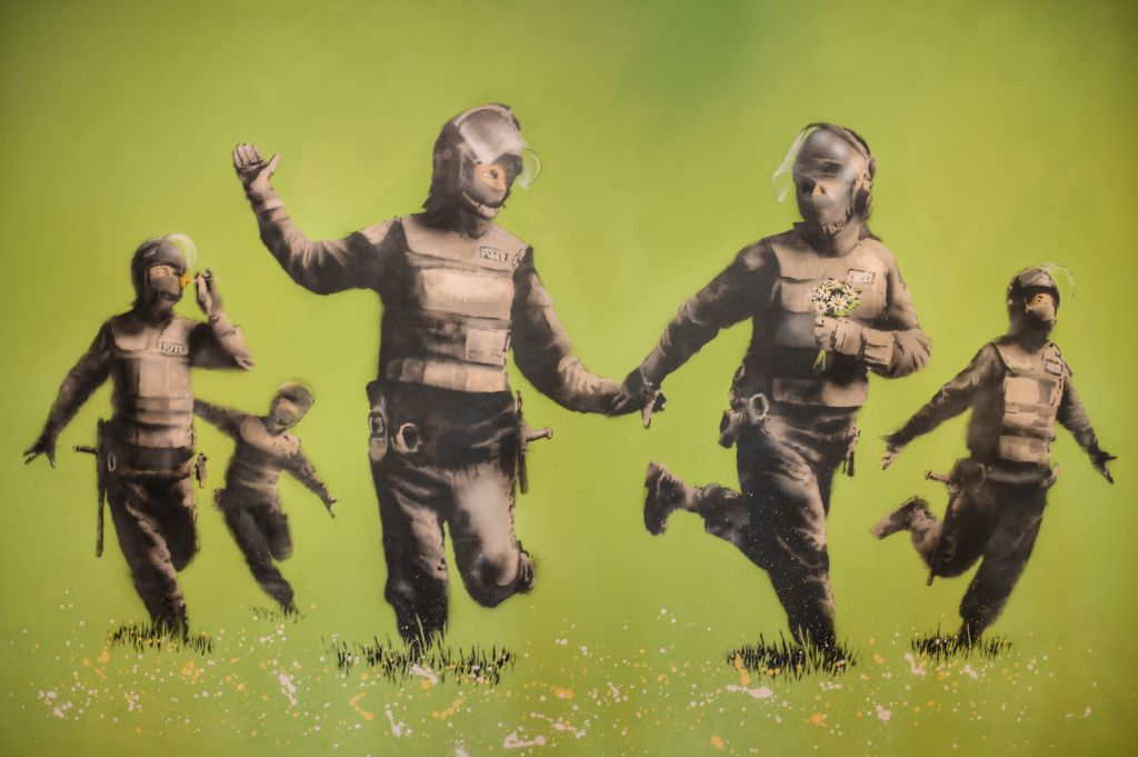 Battle of the Beanfield - Banksy