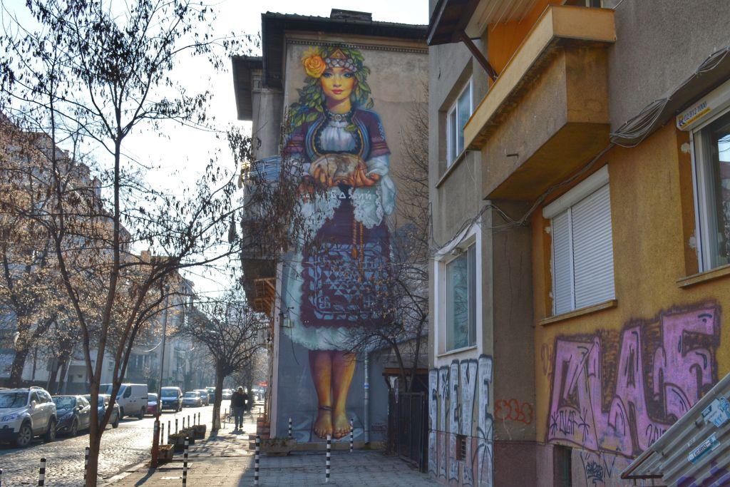 Muurschildering Sofia