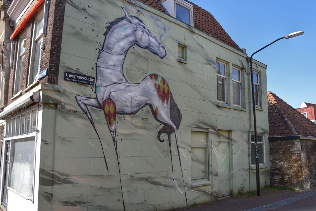 Muurschildering Beeldenstorm - Dordrecht