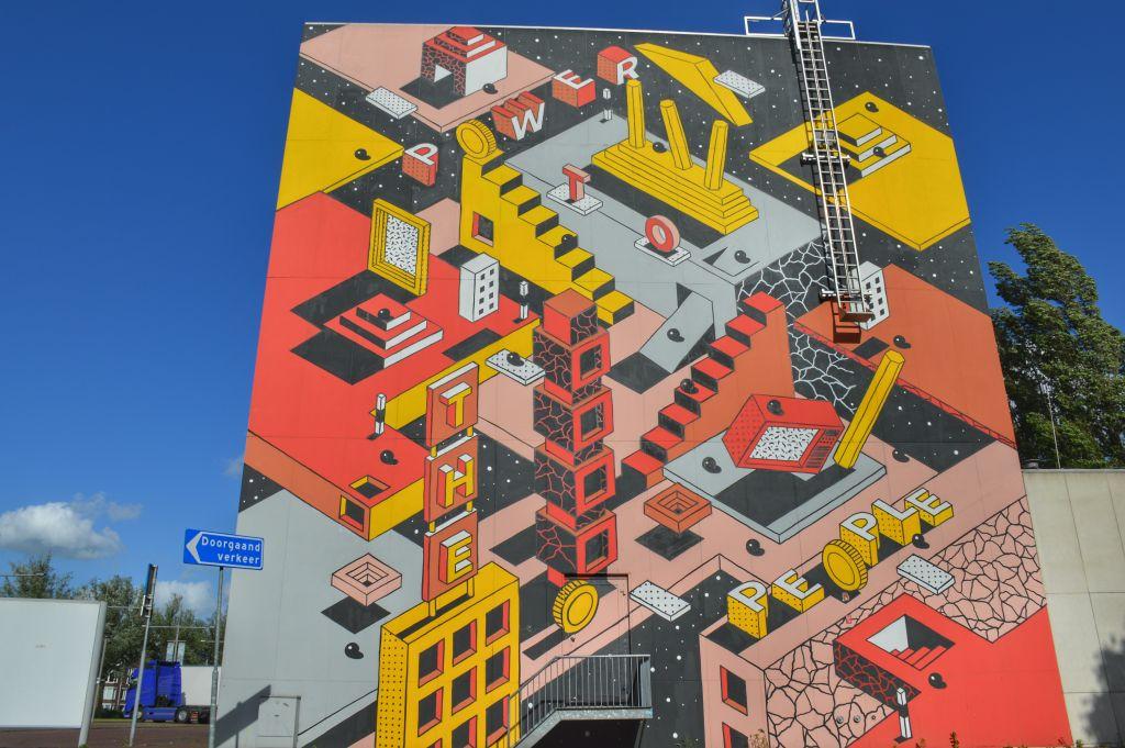 Muurschildering Johan Moorman - Stadskantoor Dordrecht