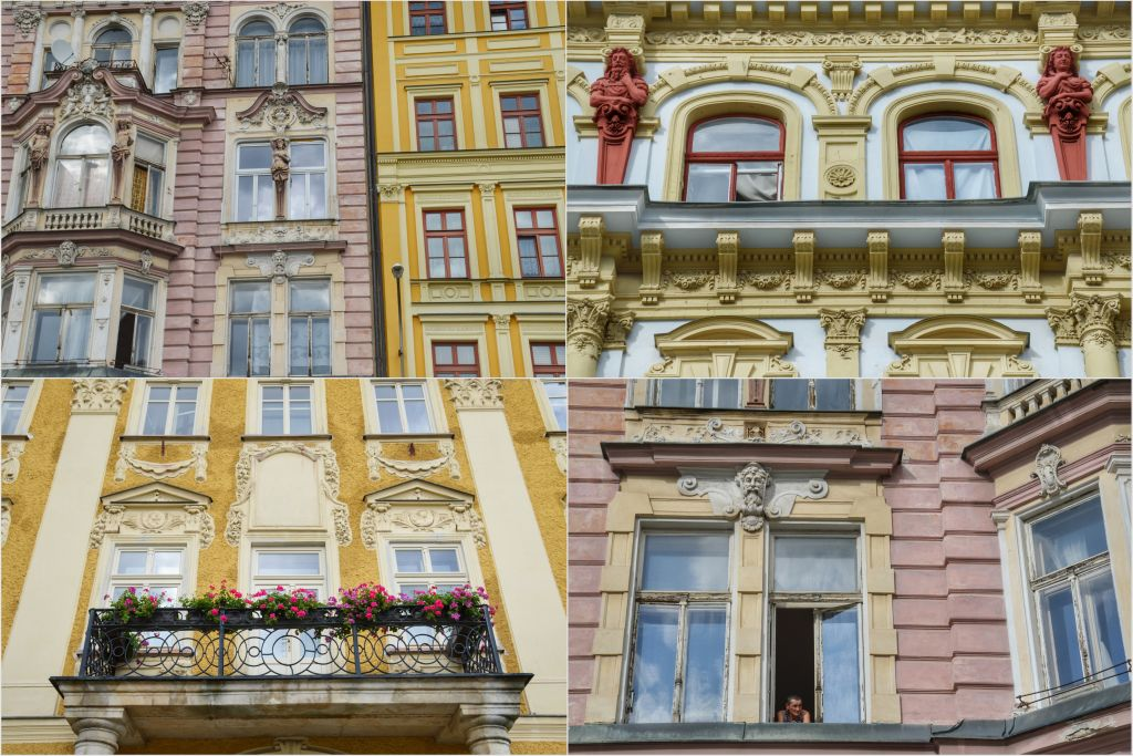 Mooie gevels in Liberec