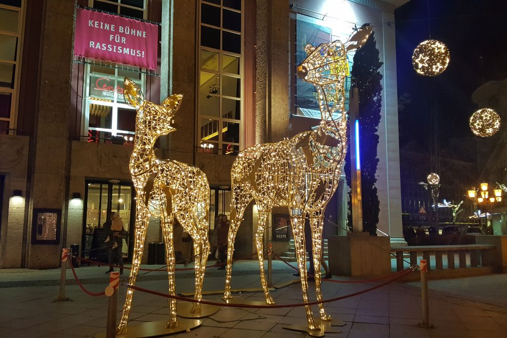 Lichtwegen kerstmarkt Essen