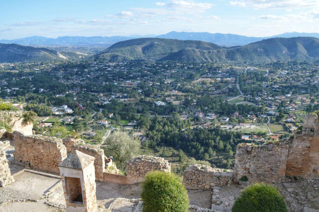 Uitzicht vanaf kasteel Xativa