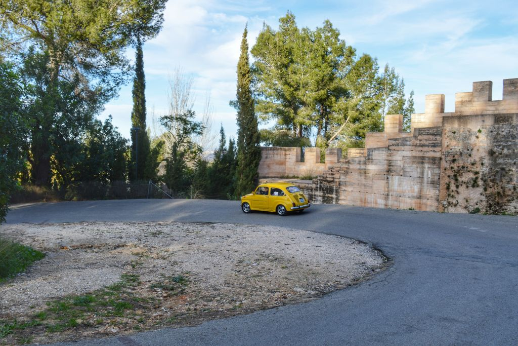 De weg naar het kasteel van Xativa