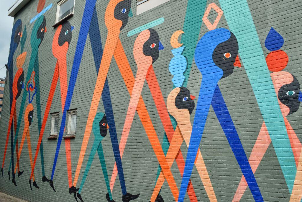 Muurschildering Breda
