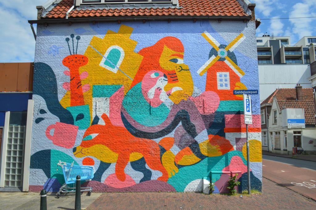Muurschildering Dordrecht