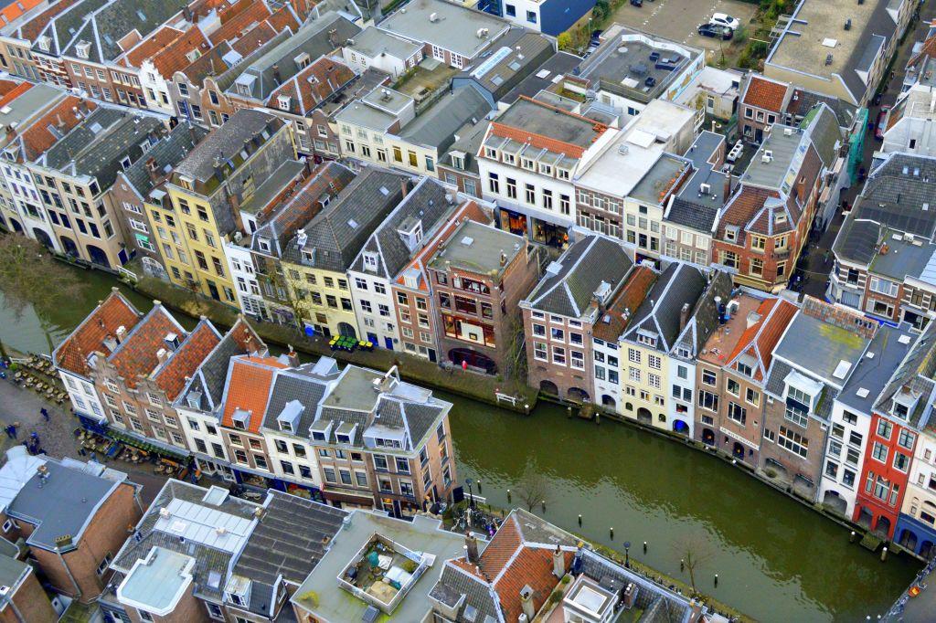 Uitzicht vanaf de Dom op Utrecht