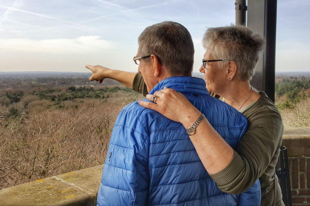 Uitzicht uitkijktoren de Koepel in Lunteren