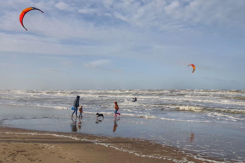 Noordwijk aan zee in de winter